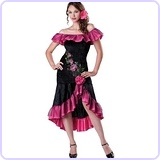 Women's Flirty Flamenco Costume