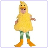 Cuddly Jungle Quackie Duck Romper Costume, 12-18 Months