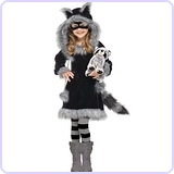 Baby Girl's Sweet Raccoon Toddler Costume, Small (3T-4T)