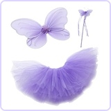 Purple Fairy Princess Tutu Set for Girls