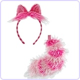 Disney's Classic Alice In Wonderland Cheshire Cat Ear and Tail Set