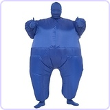 Inflatable Full Body Suit Blue Costume