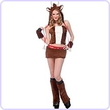 Women's Furry Reindeer Costume