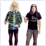 Wayne's World Garth and Wayne Costume Set