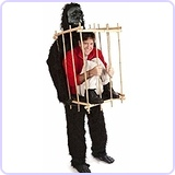 """Get Me Outta This Cage"" Gorilla and Cage Costume Kit"