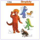 Simplicity Pattern: Child's and Matching Dog Dinosaur Costumes Sizes 3-4-5-6-7-8