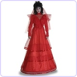 Women's Red Gothic Wedding Dress Costume Medium (8-10)