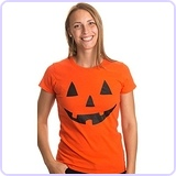 Jack O' Lantern Pumpkin Ladies' T-Shirt