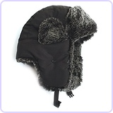 City Hunter Trapper Bomber Cap Hat Faux Fur