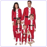 Santa Suit Christmas Matching Family Pajama Set