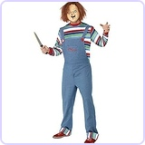 Men's Chucky Costume: Top, Dungarees & Mask
