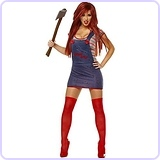 Women's Licensed Sexy Chucky Costume, Large