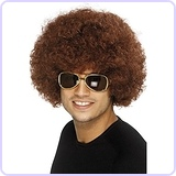 Unisex 70's Funky Brown Afro Wig