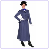 English Nanny Adult Costume, Size 14-16