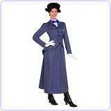 English Nanny Adult Costume, Size 14-16