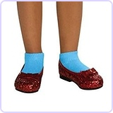 The Wizard of Oz Ruby Child Slippers