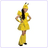 Pokemon Girl Pikachu Costume Dress, Large
