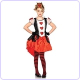 2 Piece Wonderland Queen Child's Costume