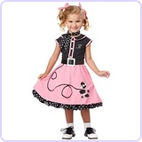 50's Poodle Cutie Toddler Costume, 3-4