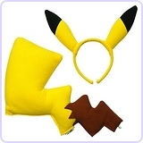 Rubies Pokemon Pikachu Ears and Tail Dress Up Kit