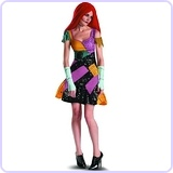 Tim Burtons The Nightmare Before Christmas Sally Glam Adult Costume