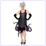 Disney Plus-Size Ursula Velvet Dress with Tentacle Skirt