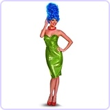 The Simpsons Marge Glam Deluxe Costume