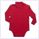 Leveret Solid Turtleneck Bodysuit
