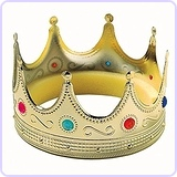 Gold Royal Medieval Mens Prince King Crown