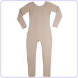 Child's Long Sleeve Scoop Unitard 2-4