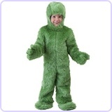 Toddler Green Furry Jumpsuit, 4T