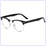 Classic Half Frame Wayfarers Clear Lens Glasses