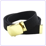 Canvas Web Belt Military Style with Brass Buckle