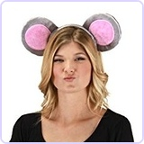 Mouse Ears Costume Headband and Tail