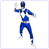 Blue Power Ranger Morphsuit Costume