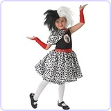 101 Dalmatians Cruella Costume, Child, Medium