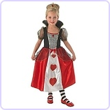 Queen of Hearts Costume, Medium 5-6 Years