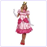 Super Mario Bros. Princess Peach Deluxe Costume, Medium/8-10