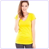 Short Sleeve V-neck Tee Tank Top Shirt