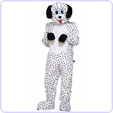 Men's Dotty The Dalmatian Plush Mascot Costume