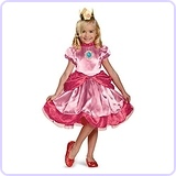 Super Mario Brothers Princess Peach Girls Costume, Medium/3T-4T
