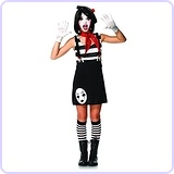 Junior's 4 Piece Miss Mime Costume