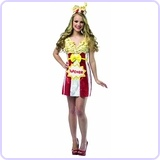Women's Foodies Popcorn Dress Costume