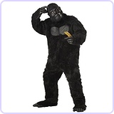 Men;s Plus-Size Full Gorilla Suit Costume