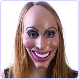 Latex Rubber Creepy Female Eradicate Mask