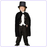 Children's Black Magician Hat and Cape
