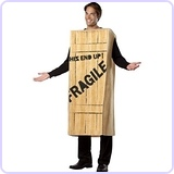 Fragile Wooden Crate Christmas Story Costume, Standard (42-48)