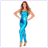 Women's Turquoise Metallic Unitard Toy Story 3 Barbie Costume