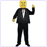 Men's LEGO Mr. Block Head Vampire Tux Unisex Costume