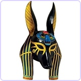 Mask of Ancient Egyptian Gods Anubis
